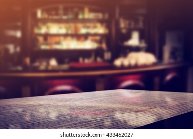dark bar interior