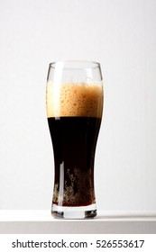 Dark beer close up