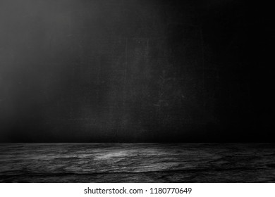 Dark and black cement wall and studio room background