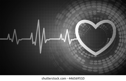 dark black color Light Abstract Technology background for computer graphic website internet and business. circuit. illustration. digital. infographics. binary code. Global. gear.EKG electrocardiogram