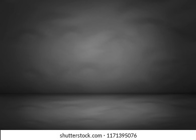 dark and black gradient studio and room background