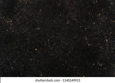 Dark Black soil texture and blackground