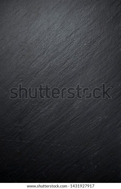 Dark black stone table background