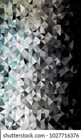 Dark Black vertical abstract mosaic pattern. Modern geometrical abstract illustration with gradient. The best triangular design for your business.