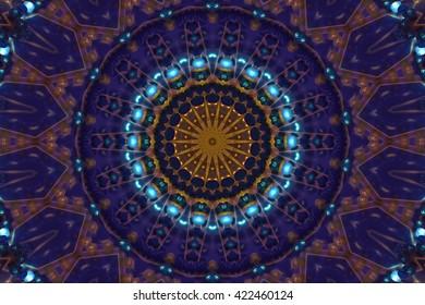 dark blue abstract kaleidoscope