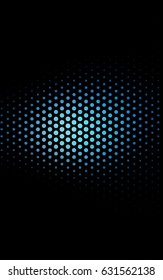 Dark BLUE abstract pattern with circles. Geometry template for your business design. Background with colored spheres.
