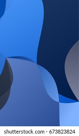 Dark BLUE bandy background. A sample with curved shapes. Brand-new design for your business.