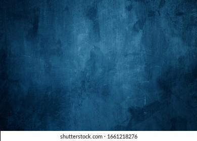dark blue cement wall background