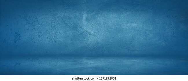 dark and blue concreate and cement wall and studio to present product and background