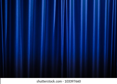 Blue Curtain Background Images, Stock Photos \ Vectors | Shutterstock