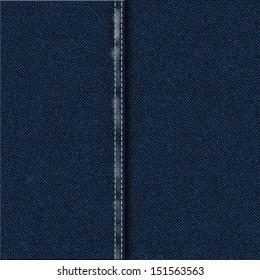 Dark Blue Denim Fabric Material