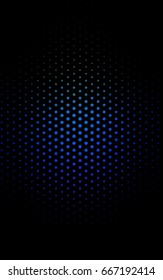 Dark Blue, Green red banner with set of circles, dots. Donuts Background. Creative Design Template. Technological halftone illustration.