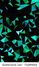 Dark Blue, Green shining triangular pattern. Colorful illustration in abstract style with gradient. The polygonal design can be used for your web site.
