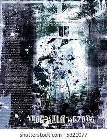 dark blue grunge layout