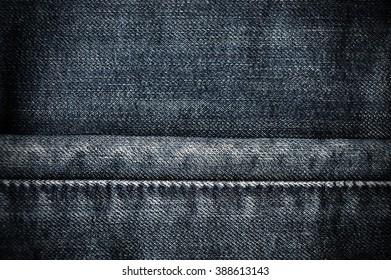Dark blue jean texture and background