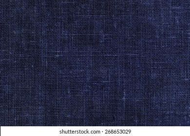 Dark Blue Linen Fabric Texture Background/ Blue Textile