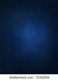 Dark Blue Metal Grate Background