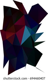 Dark Blue, Red low poly template. Colorful abstract illustration with gradient. A new texture for your design.