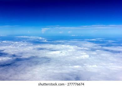 dark blue skies