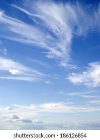 dark blue sky and cloudscape