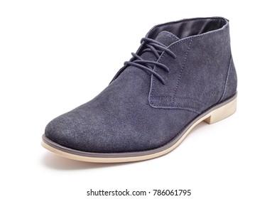 dark blue swade shoe studio isolated