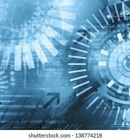 Dark blue technology background
