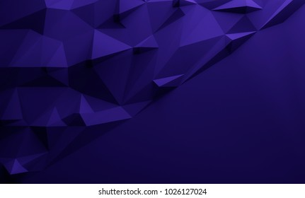 Dark blue triangular textured lowpoly background