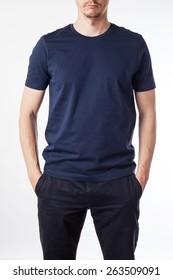 Imágenes Fotos De Stock Y Vectores Sobre Blue T Shirt