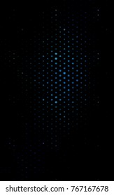 Dark BLUE vertical abstract pattern with circles. Geometry template for your business design. Background with colored spheres.