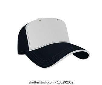 Dark Blue and White Baseball Cap