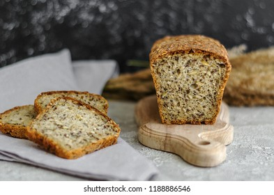Dark bread with seeds