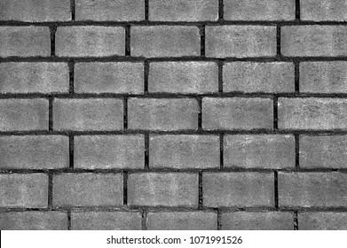 Dark brick block Wall. background and texture.