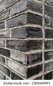dark Brick wall for a background, corner view