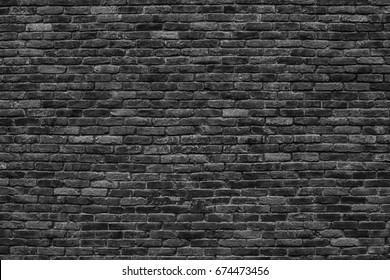 dark brick wall, the black block as a background texture