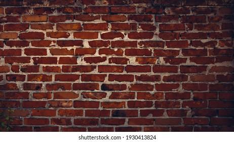 Dark brick wall texture background.