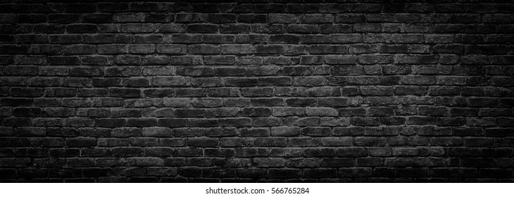 dark brick wall, texture  black stone blocks, high resolution panorama