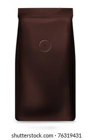 dark brown bag foil bag with valve