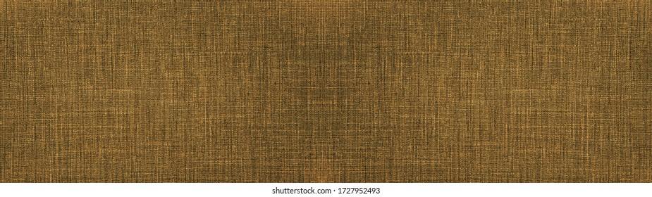 Dark Brown beige gray natural cotton linen textile texture background banner panorama long