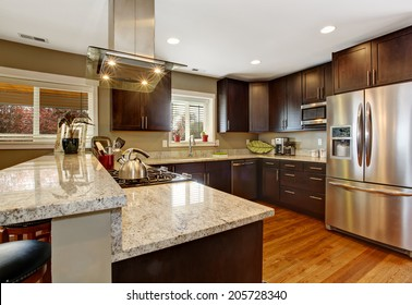 Brown Kitchen Cabinets Images Stock Photos Vectors Shutterstock