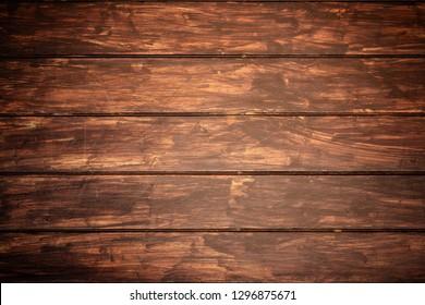 Dark brown old vintage wood texture background