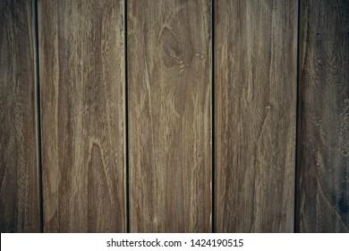 Dark Brown vitage wood vertical texture natural tree background