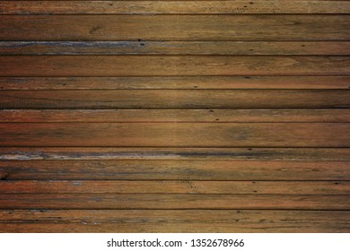 Dark brown wood background, old wood planks.