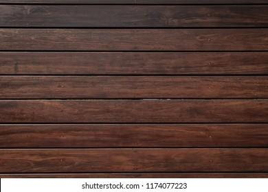 Dark brown wood background, wood planks.