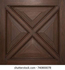 DARK BROWN WOOD PANEL WITH MOLDING