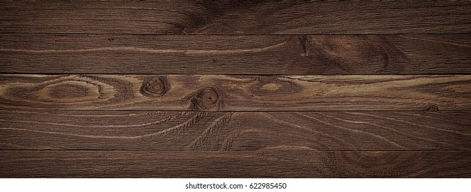 Dark Brown Wood Plank Panel For Wall And Floor