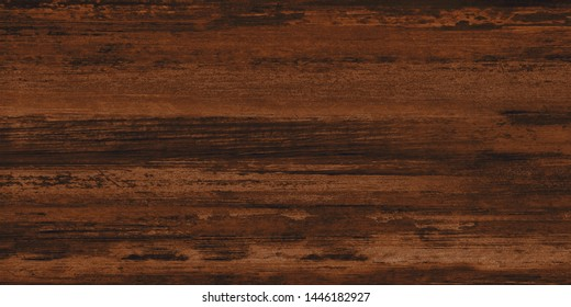 Dark Brown Wood Texture Pattern Background With High Resolution.