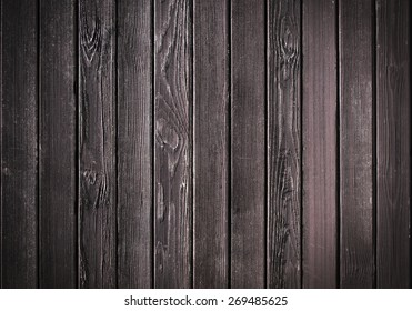 Dark brown wooden planks background texture
