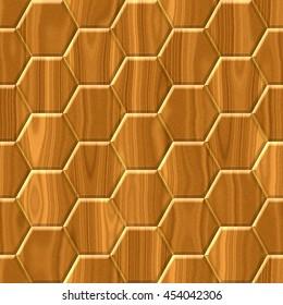 dark brown woody hexagon seamless pattern texture background