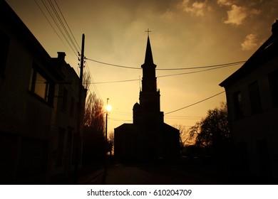 Dark catholic church