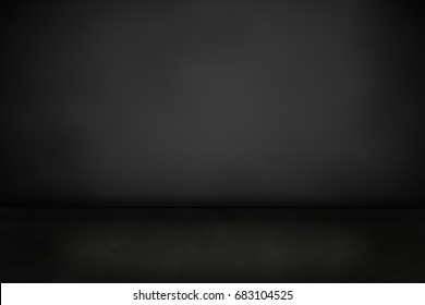 dark cement floor and black background - can be used for display or montage your products (or foods)